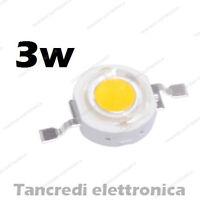 Chip led 3W bianco caldo 600mA 3V 3.6V alta luminosità lampadina lampada bulb