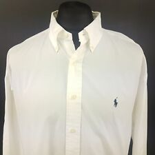 Polo Ralph Lauren Mens Vintage Casual Shirt 3XL Long Sleeve White Regular Fit