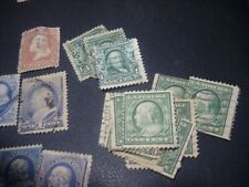 George Washington c1851 Vintage 3 Cent Stamp Used Orange/Brown