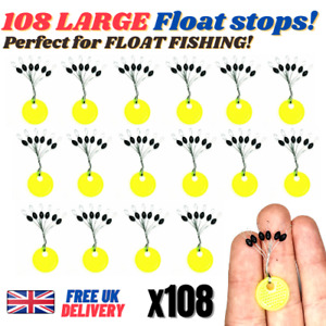 108 x Sliding Float Stops Rubber Barrel Rig Buffer Line & Braid FISHING FREE P&P