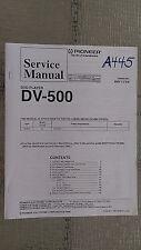 Pioneer dv-500 service manual original repair book stereo dvd player