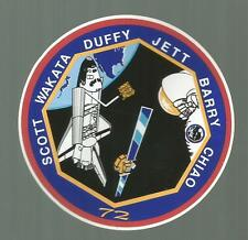 SHUTTLE ENDEAVOUR STS-72  CREW PATCH  DECAL STICKER 3 1/2  INCHES