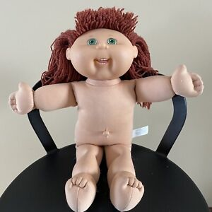 Burgundy Red Hair Green Eyes Teeth Cabbage Patch Kids Doll