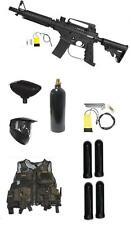 New Tippmann US ARMY Alpha ELITE Tactical Paintball Gun Mega Pack Black Vest Kit