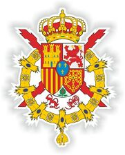 "Spain coat of arms Sticker Bumper Vinyl Decal 3.1""x4"" spagnola Spanish Crest"