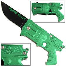 Zombie Killer Apocalypse California Legal Assisted Gun Knife- Metallic Green