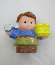 Fisher Price Little People DAD FATHER Daddy Man w/ COFFEE CUPS & GLASSES Rare!