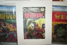 House of Mystery 221 WRIGHTSON COVER HAND PAINTED ART Skeleton Carousel`73 Color