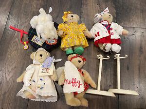 The Muffy Vanderbear Collection Lot Lulu Dog Bed Sleepover Sewing Beach Bear