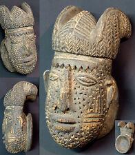 Art Africain masque cimier ancien Yoruba nigéria couronne royale scarifications
