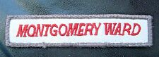 "Montgomery Ward Embroidered Sew on Patch Department Store Advertising 5"" x 1"""