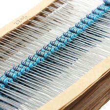 1280Pcs 64 Value 1/4W 1% Metal Mixed Assorted Resistors Assortment Selection Kit
