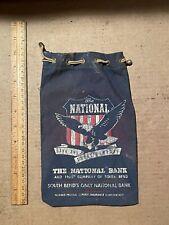 Vintage National Bank & Trust of South Bend Canvas money/change bag.