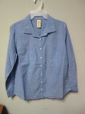LOT OF 2! Faded Glory Juniors Women Med-Wash Chambray Button Shirt Size M (8/10)