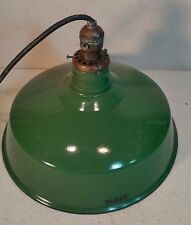 """Vintage Green Porcelain Industrial Light Fixture - Vintage Socket! - Cool! 14"""""""