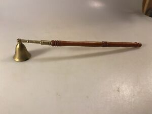 Vintage Brass W/ Wood Handle Candle Snuffer