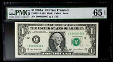 GEM 2003A $1 SUPER FANCY SER# 60000060 - PMG #65EPQ GEM NEW - BEAUTIFUL