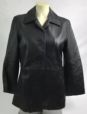 Brooks Brothers Women's Black Soft Leather Jacket Size XS