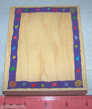 Swirl Star Frame Stamp Border Model S 1257 Great for Sports School Pictures