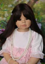 Masterpiece Dolls Kaylee Brunette Wig, Fits Up To a 18-inch Head