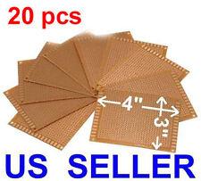 Twenty 20 Pcs 3x4 7x9cm Pcb Printed Circuit Board Prototype Breadboard