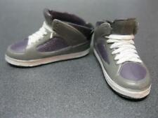 "Ken Doll Clothes Fashionista Purple ""Lace"" Up high top Tennis Basketball Shoes"