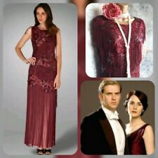 phase eight berry tassel lace beaded 20s deco gatsby evening salsa dress 16 £275