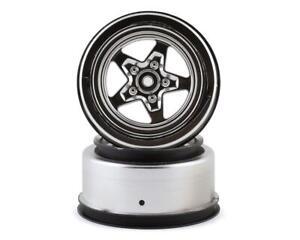 Losi 22S Drag Rear Wheels (Satin Chrome) (2) [LOS43048]