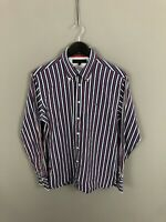 TOMMY HILFIGER Shirt - Size Medium - Striped - Great Condition - Men's