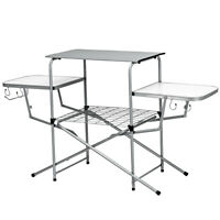 Folding Camping Table Outdoor Kitchen Portable Grilling Stand Lightweight Table