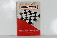 Matchbox Fahrzeuge 1985 Catalogue Catalog Katalog Catalogo