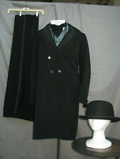 Victorian Suit Men's Edwardian Costume Civil War Gilded Age Reenactment w Derby