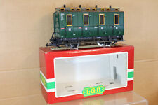 LGB 3050 G SCALE LIGHTS & DR DRG DB GREEN 3rd CLASS LOCAL PASSENGER COACH nk