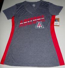 1d089319634 UNIVERSITY OF ARIZONA Gray V Neck T Shirt KA Knights Ladies S 4/6 NCAA