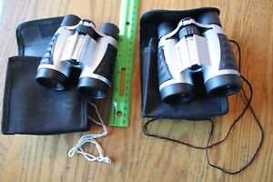 2 sets of Emerson Binoculars w/ Protective Nylon Carrying Pouch
