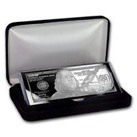 4 oz 100 $ Banknote 2018 aus purem 999 Silber Silberbarren m. Zertifikat & Box