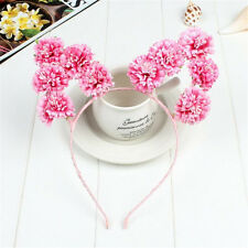 1PC Pink Rose Flower Cat Animal Ears Headband Pastel Goth Sweet Hair band Prop