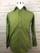 Vintage Towncraft Plus Penneys Solid Green Long Sleeve Men's Dress Shirt 15-33