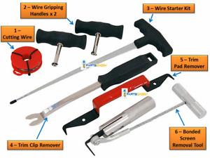 8pc Set Vehicle Windscreen Glass Removal Kit Window Repair Van Car Tool