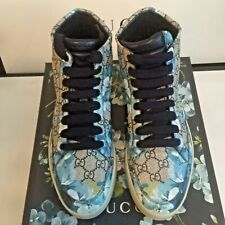 Gucci Men's GG Supreme Bloom Sneakers Blue/Beige Size 9G/10US - NIB w/tag