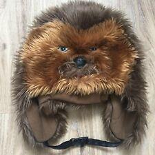 19cb8d1171f DISNEY CHEWBACCA FAUX FUR BEANIE W  STRAP Star Wars Furry Winter Hat Costume