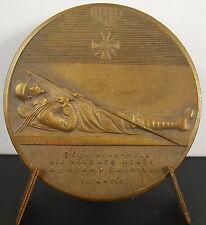 Medalla BretañA Guerra 1914-1919 los soldados bretones muertos A J Corbierre