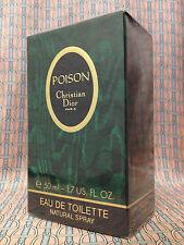 Vintage 1990s Dior Poison SEALED 1.7 oz 50 ml Eau de Toilette Spray OLD FORMULA