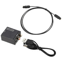 Digital Toslink SPDIF Coax to Analog RCA Audio Adapter w/USB Optical Cable