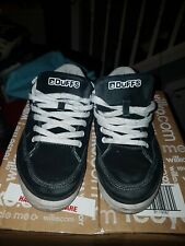 Duffs DX391 Navy Black Lace Up Skate Shoes Trainers Size UK 7