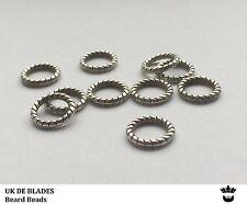 10 beard beads UK DE BLADES (oil wax gift balm Birthday mens beads metal A1