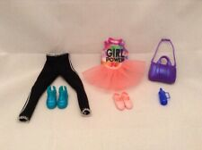 Barbie Team Stacie Dance Doll Outfit Tutu Slippers Leggings Top Bag Sneakers Bot