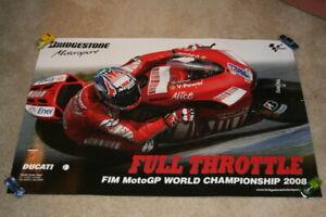 2008 Casey Stoner Bridgestone Ducati Desmosedici GP8 MotoGP Poster