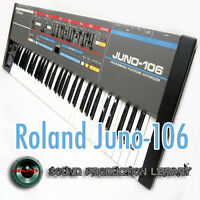 for Roland Juno-106 - Large original WAVE/KONTAKT samples/loops library on DVD