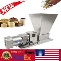 Electric Homebrew Grain Mill Barley Grinder Malt Crusher 2 Roller w/ 4 Hopper US